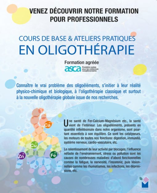 Formation Oligothérapie 2021 Laboratoires Bioligo