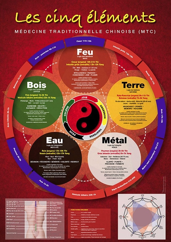Les cinq éléments Médecine traditionnelle chinoise Laboratoires Bioligo
