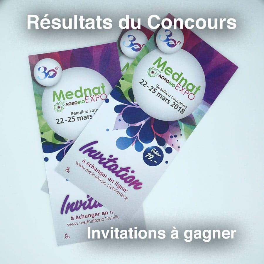 Lots de 2 invitations à gagner: répondez à la question...