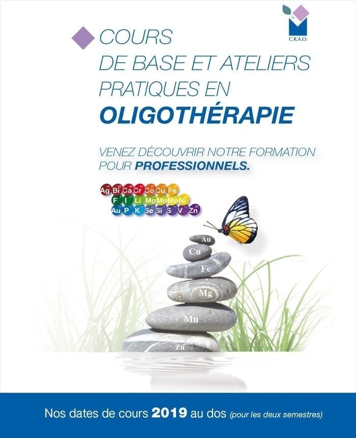 Calendrier 2019 Formation Oligothérapie Laboratoires Bioligo