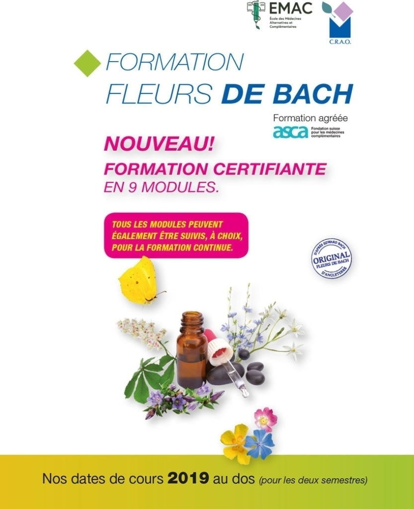 Calendrier 2019 Formation Fleurs de Bach Laboratoires Bioligo