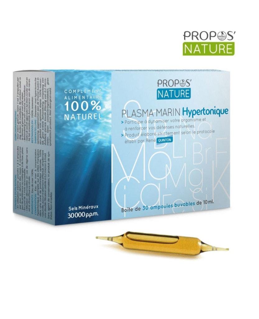 Plasma marin hypertonique Propos Nature Laboratoires Bioligo