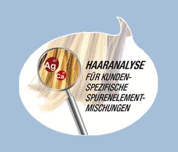 Haaranalyse fur kunden Oligoelements Laboratoires Bioligo