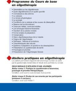 Formation Oligothérapie 2020 programme Laboratoires Bioligo