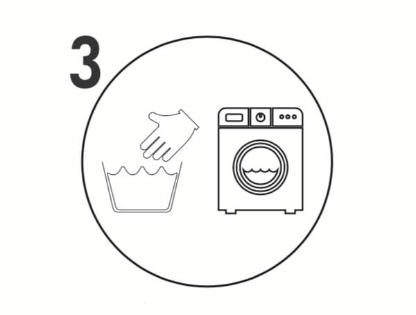 Laver à la main ou en machine puis laissez sécher