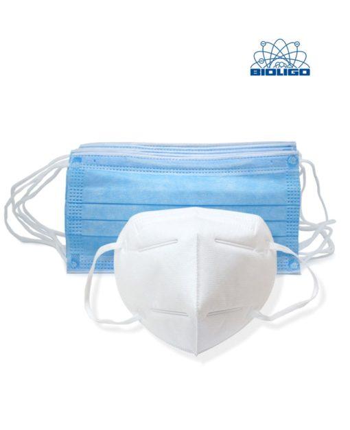 Masques chirurgicaux sanitaires & ffp2/kn95 Coronavirus Laboratoires Bioligo