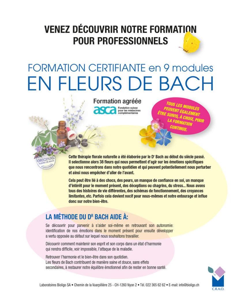 Formation Fleurs de Bach 2021 Laboratoires Bioligo