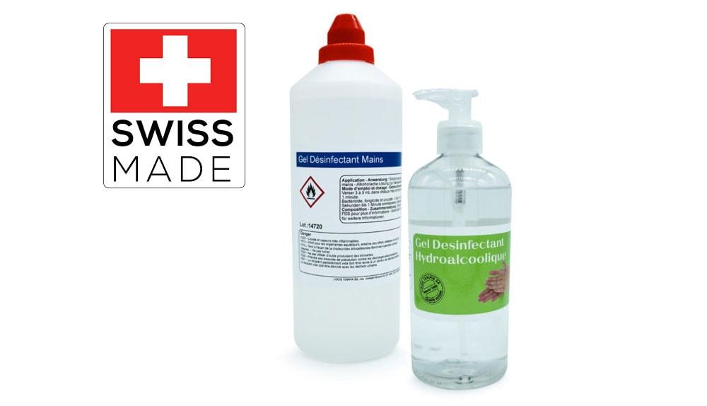 Gel Hydro-alcoolique Flacon pompe 500ml & recharge 1L Laboratoires Bioligo