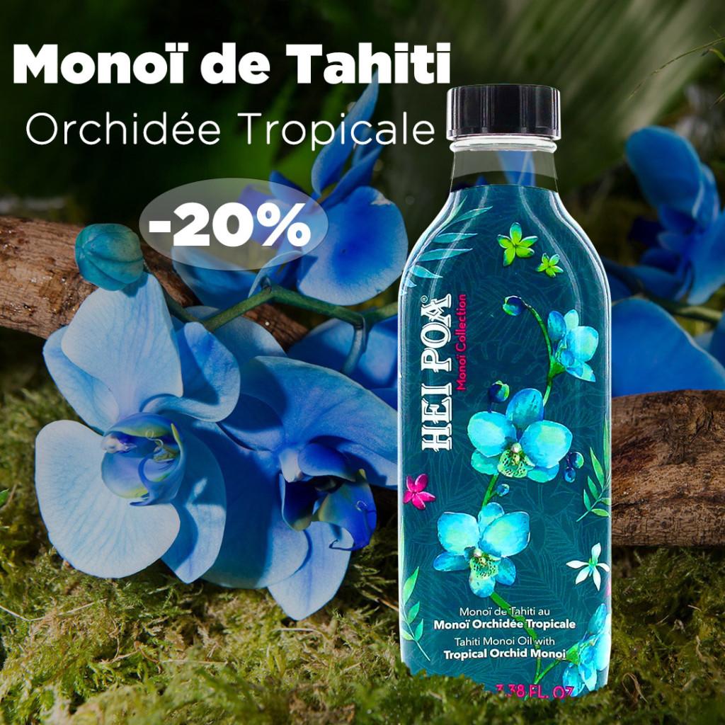 Monoï Tahiti Parfum Orchidée Tropicale Hei Poa Laboratoires Bioligo