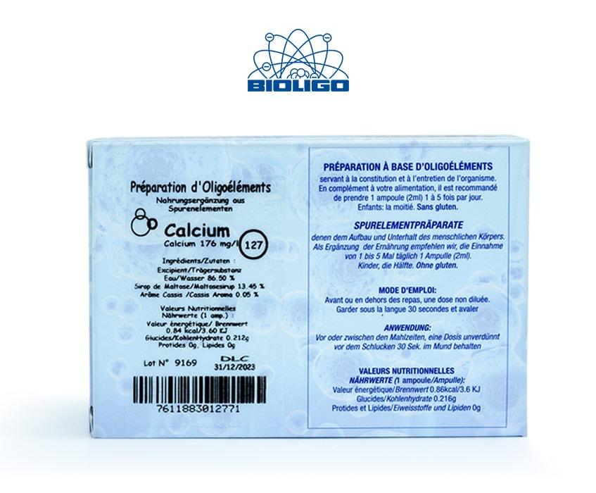 Calcium Oligoéléments Unitaires Étiquettes Ampoules Laboratoires Bioligo