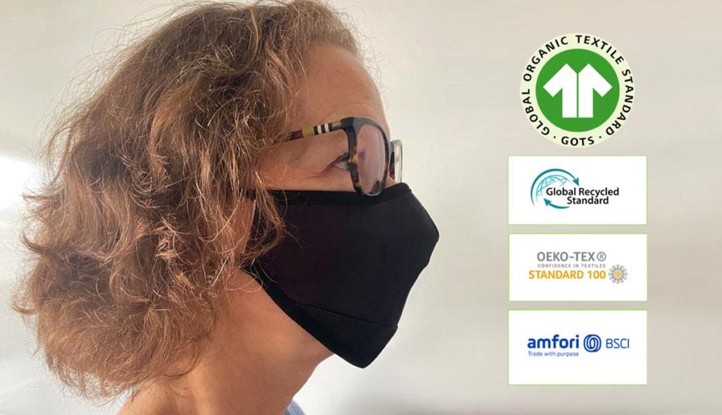Masques Tissus lavable 20x réutilisable polyester et intérieur coton BIO Laboratoires Bioligo