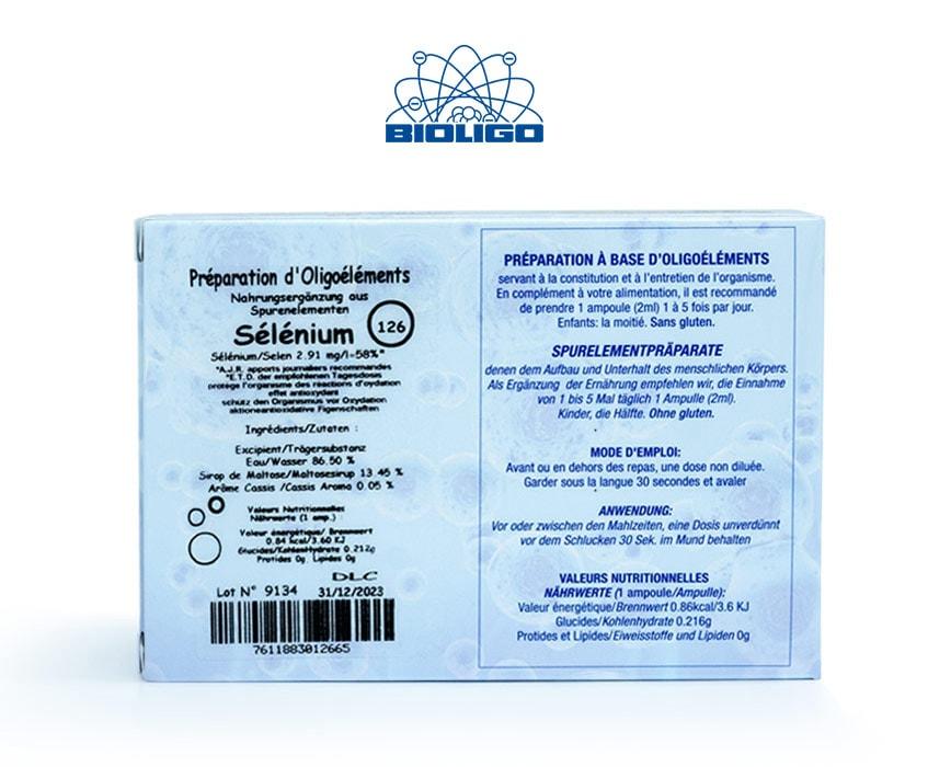 Sélénium Oligoéléments Unitaires Étiquettes Ampoules Laboratoires Bioligo
