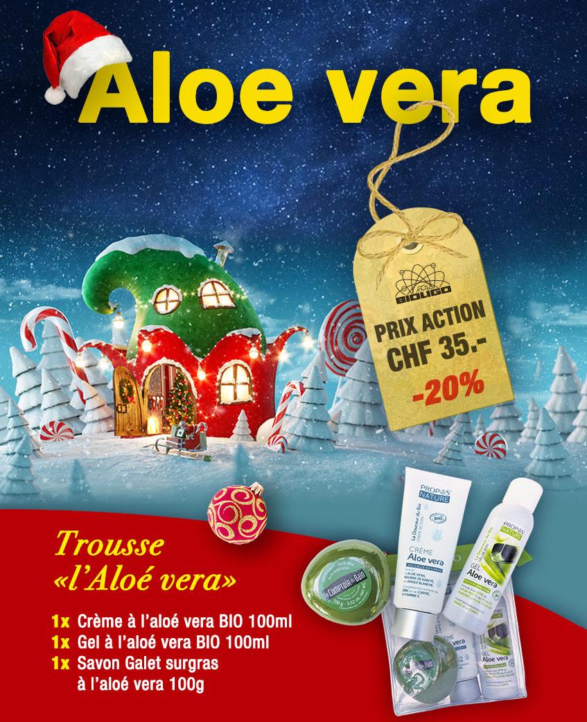 Trousse Noël «l'Aloe vera» Laboratoires Bioligo