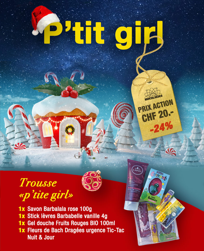 Trousse Noël «p'tite girl» Laboratoires Bioligo