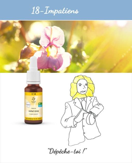 18. Impatiens - Fleur de Bach Bio 20ml Laboratoires Bioligo