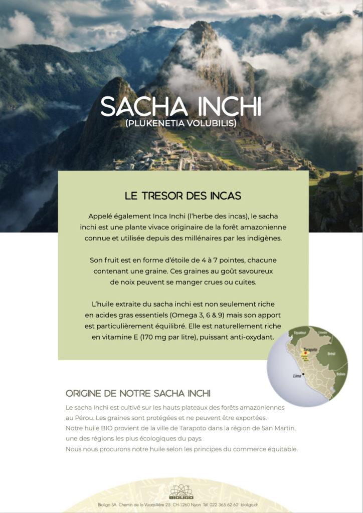 Sacha Inchi Le Trésor des Incas Laboratoires Bioligo